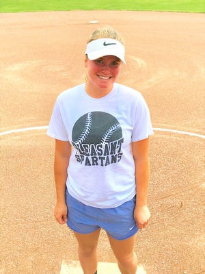 Pleasant softball junior Makenna Waddell was named June's female winner for Fahey Bank Athlete of the Month.
