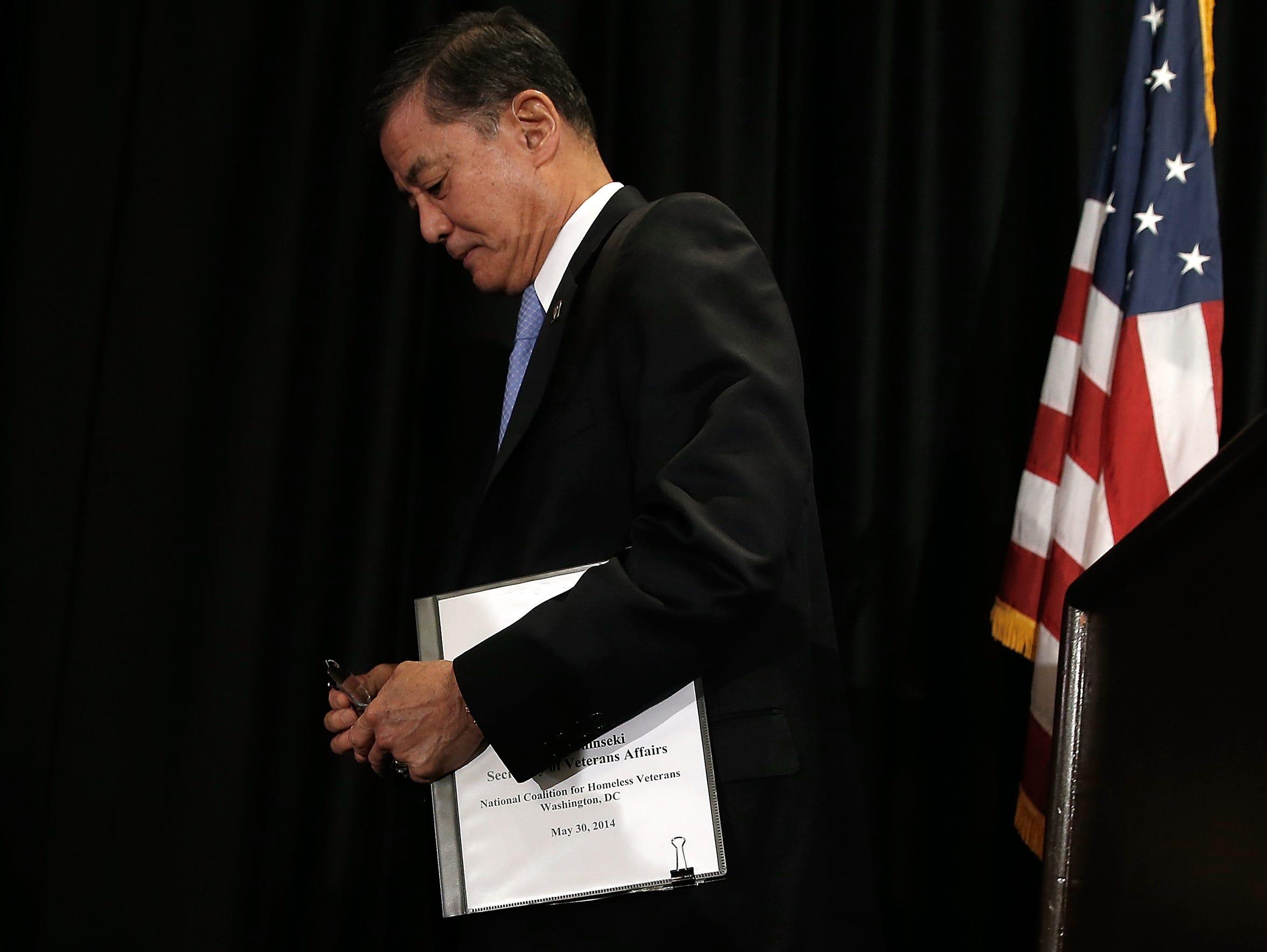 VA Secretary Eric Shinseki