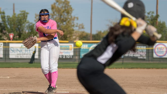 Central High School's Savannah Autobee delivers a pitch in the third inning against South last October on DiIorio Field at the Runyon Sports Complex.
