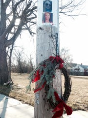 A memorial at the site of Paige Stalker's slaying