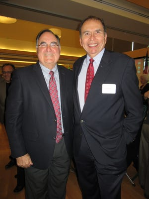 "Paul De Muniz and Danny Santos at the Mid-Valley Literacy Center ""Spotlight on Literacy"" event, held April 24, 2015, at the Salvation Army Kroc Center."