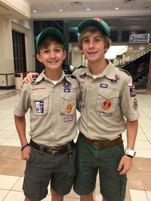 Hynson Luke, 14, (left) and Ascher Luke, 16, were among the four boy Boy Scouts from Louisiana who traveled to Japan for the 2015 World Scouts Jamboree.