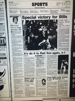 Bills defeat the Raiders in 1990.
