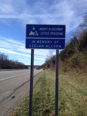 On Thursday, the Ohio Department of Transportation erected signs for the Adopt-A-Highway program in memory of Leelah Alcorn, 17, who committed suicide on that portion of road Dec. 28.