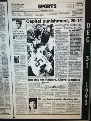The D&C's sports page on Dec. 31, 1990.