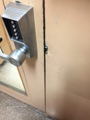 Police say an attempted break-in occurred at the Peekskill Buildng Department.