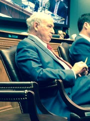 Rep. Terry Brown, I-Colfax, listens during a House committee meeting in which his House Bill 11 won approval in a 9-8 vote.