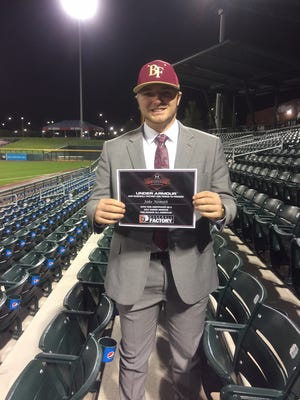 Pace High's Jake Nemith shined at the 2017 Under Armour Baseball Factory All-American Preseason Tournament. Nemith is rated a D1-caliber player by Baseball Factory and recorded the second-fastest poptime at the national showcase.