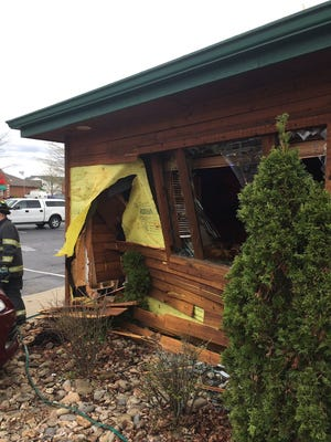 Investigators say four people were injured when a driver hit the gas instead of the brake and drove through the wall of a south-side Texas Roadhouse on April 6, 2016.