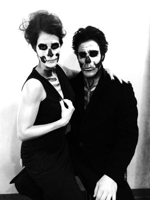 Johan Franzen and his wife, Cecilia, at the Red Wings' annual Halloween party.