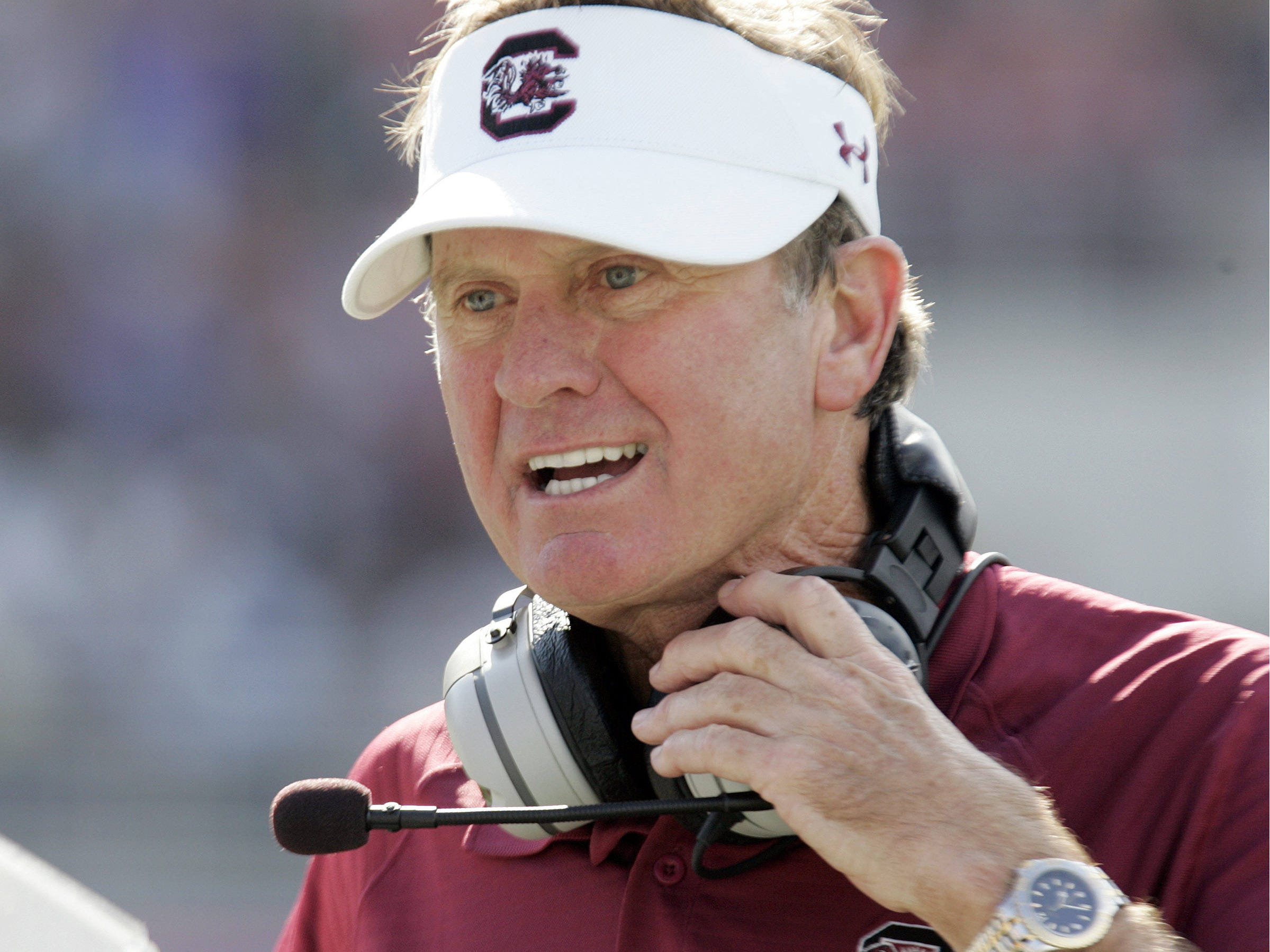 South Carolina football coach Steve Spurrier and the Gamecocks face LSU on Saturday.