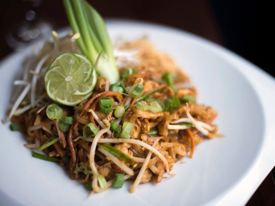 A pad Thai with pork dish from Circles Contemporary Asian Cuisine in Collingswood.