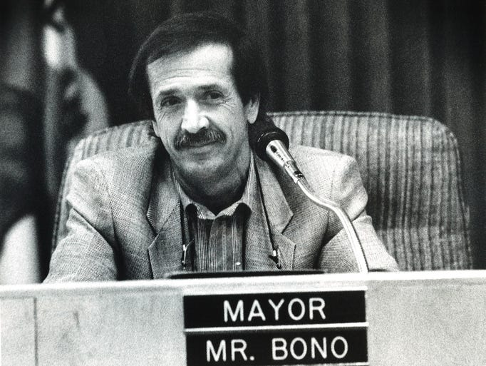 Image result for sonny bono inaugurated as mayor of palm springs
