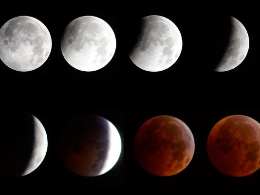 The full lunar eclipse fell on the winter solstice for the first time in 372 years on Tuesday, Dec. 21, 2010.