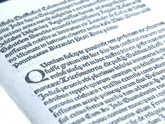 """Epistola de insulis nuper inventis,"" published in"