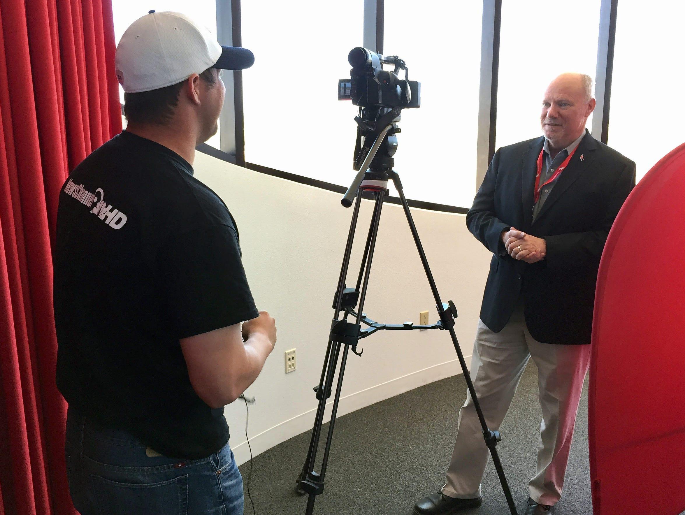 Patrick Hayes, a reporter with KTSM-TV in El Paso,