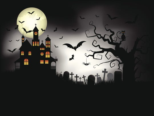 Halloween marauders swooped down on houses in the dark of night.