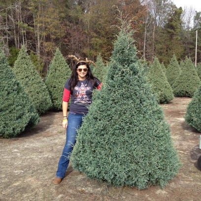 Reporter Kala Kachmar with her Christmas Tree at Wadsworth