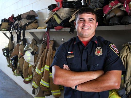 Hattiesburg firefighter Ricky Sheppard was named Firefighter
