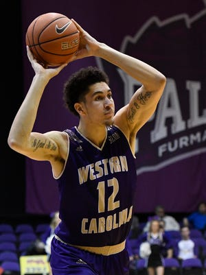 Western Carolina's Marc Gosselin (12)