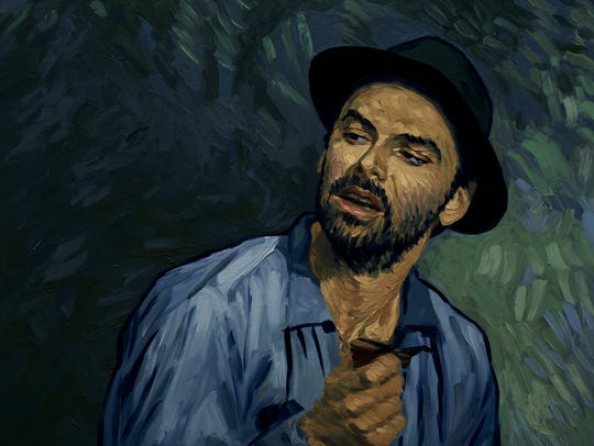 "Aidan Turner plays the Boatman in ""Loving Vincent,"""