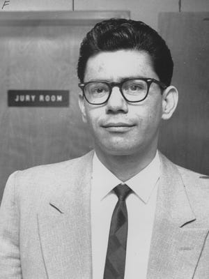 Ernesto Miranda appears in court in 1967, after the Supreme Court ruled in his favor.