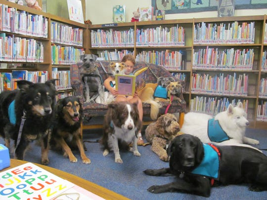 The BARK-9 program allows children to read to dogs