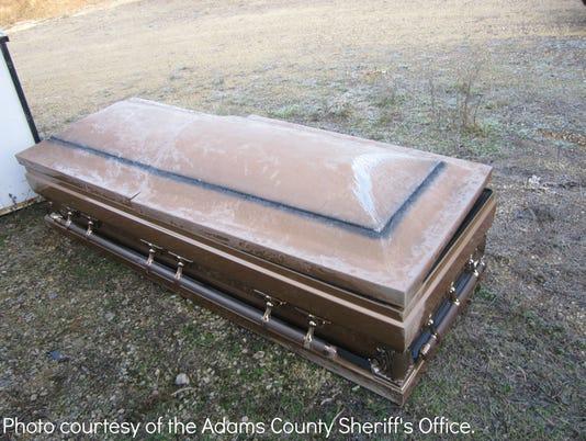 Found casket