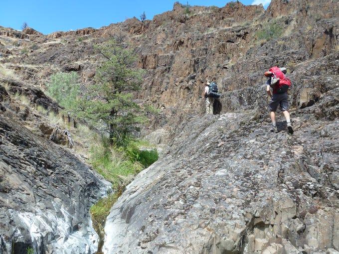 A hike into Black Canyon on Sutton Mountain.