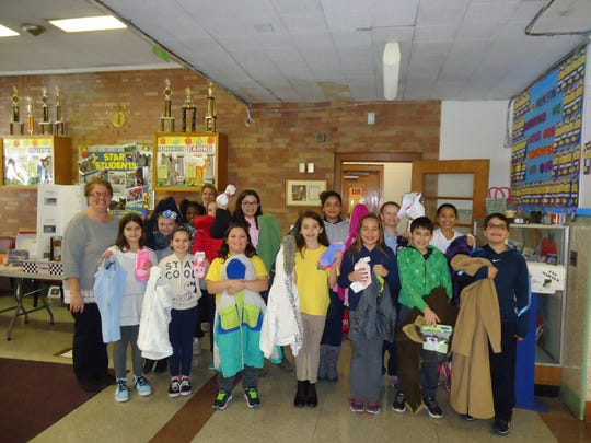 The Student Council at Linden School No. 10 conducted a gently used coat and new sock drive that concluded at the end of January. Advisers Fran Czylek and Tracey Capalbo said that the Student Council collected 63 coats and 19 packages of socks along with hats, gloves and scarves. The students worked very hard making flyers and posters to advertise, and it paid off, according to the advisers.