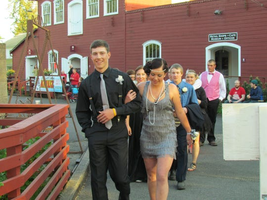 """Scio High School students celebrated 2016 prom, """"Great Gatsby"""" style, at the Mission Mill Museum in Salem."""