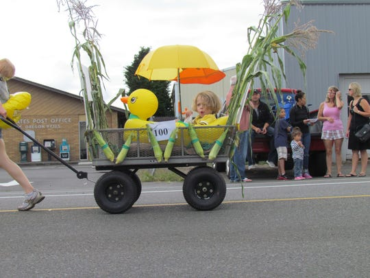 All's ducky at Aumsville Corn Festival Parade Saturday, Aug. 24, 2013.