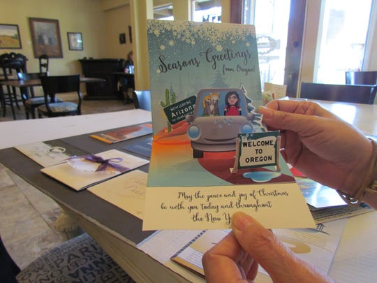 "Tricia McCain visits Canyon Conversations Wednesday, Nov. 9, at Moxieberry in downtown Stayton to share her unique, creative endeavor ""Fairygood Design."""