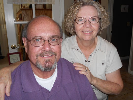 Alan Vincent, left, and his wife Lee appear in this