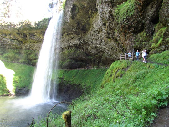 Silver Falls State Park was a popular place on a sunny