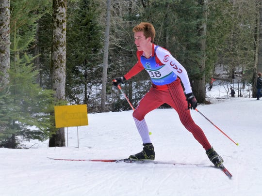 CVU's Tyler Marshall competes during the Vermont high school Nordic ski season this past winter.