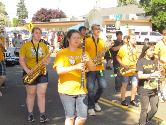 Cascade band peps up the parade at the 49th Annual