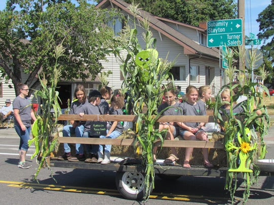 Carting for corn at the 49th Annual Aumsville Corn Festival Saturday, Aug. 19.