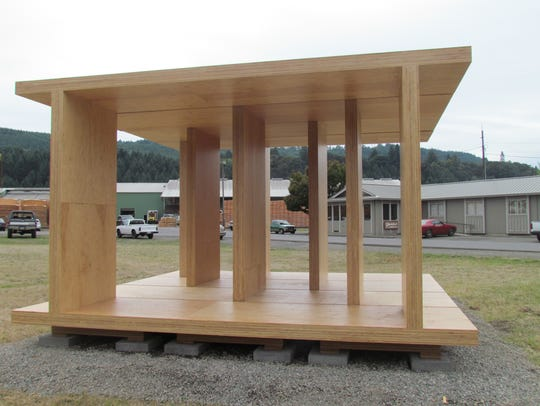Mass-plywood panel pavilion in Lyons, which was part