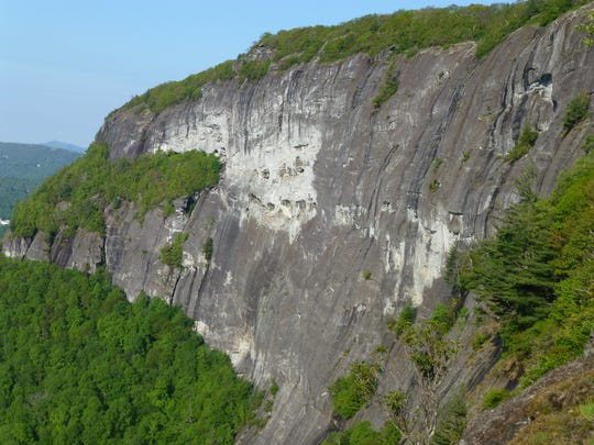 Whiteside Mountain is near Highlands in the Nantahala National Forest.