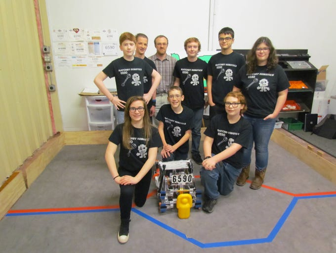 Ratchet Robotics Team 6590, a group of 8 game teenagers