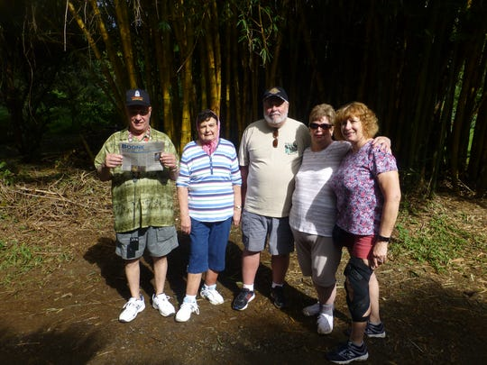 """Here on the """"Road to Hana"""" in the middle of a bamboo"""