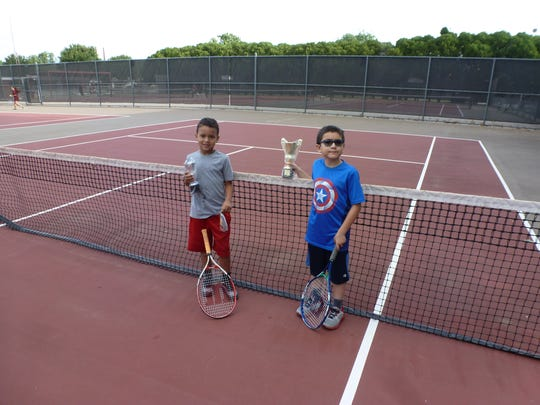 Jackson Blake (right) beat Braxton Sims in the boys