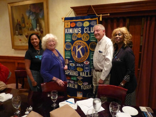 Spring Valley Kiwanis members at the October meeting: President Michelle Bullock Vice-President Ebony Thompson (Not Pictured); Secretary Lenora McCabe; Corresponding Secretary/Treasurer Richard Matrese; District Lt. Governor Patricia Caldwell.
