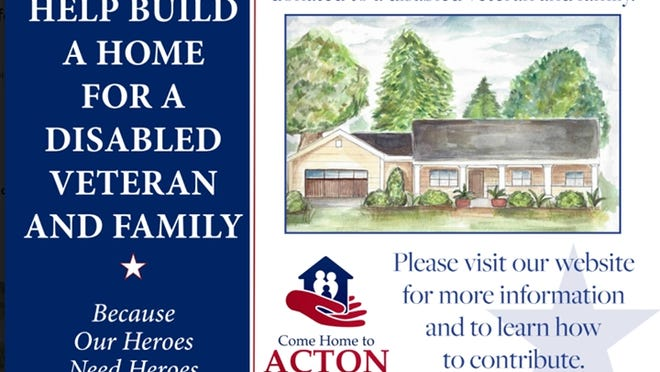 To donate to Mark Starr's project to build a home for a disabled veteran, visit comehometoacton.org.