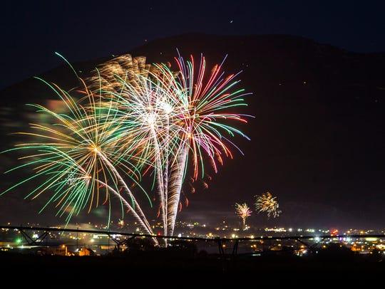 Cedar City's fireworks show lights up the sky July