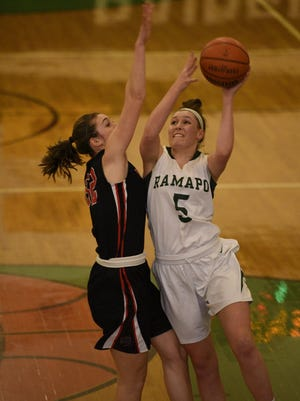 Ramapo senior forward Emily Calabrese is averaging 17 points and 14 rebounds. She's in the running to be named The Record's Player of the Year.