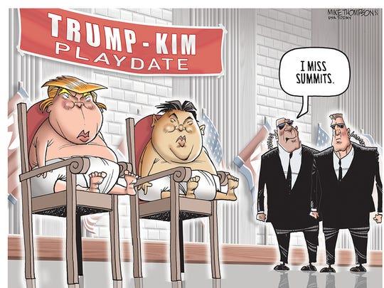 President Trump meets North Korean Chairman Kim in