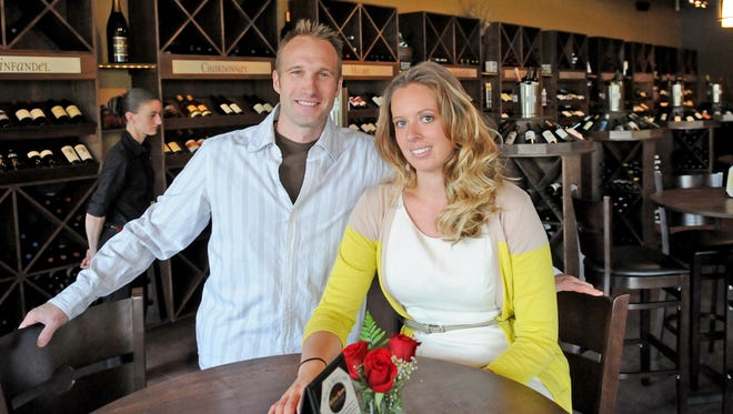 Christine and Justin Rutchnik, owners of The Bottle Room, 2300 Lineville Road in Suamico.