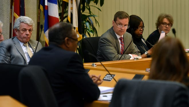 The Knox County Ethics Committee voted unanimously March 7, 2018, to require another hearing to discuss and possibly vote on an ethics complaint filed against two county commissioners. The vote does not imply guilt by Commissioners Charles Busler and Bob Thomas, but all present committee members thought the allegations, if proved true, would result in an ethical violation.